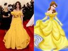 Por causa de look, Katie Holmes é comparada a Bela, de 'A Bela e a Fera'