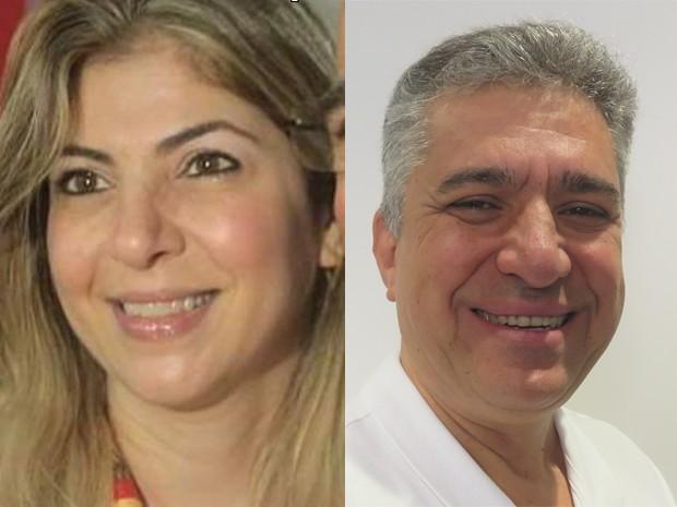 Haifa Madi e Dr. Valter Suman disputam o 2º turno em Guarujá (Foto: Arte/G1)