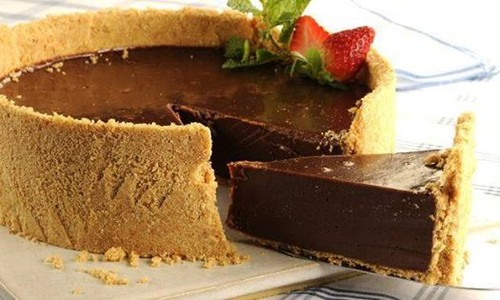 Torta gelada de chocolate (Cheesecake