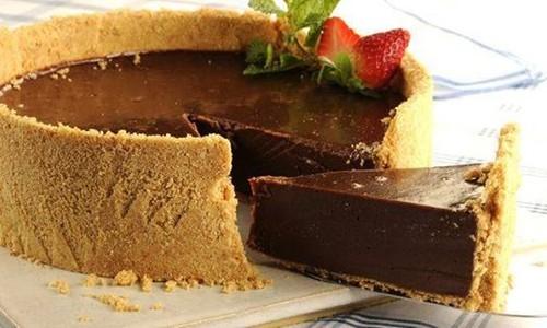 Torta gelada de chocolate (Cheesecake