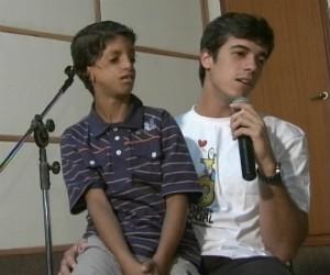 Gabriel e Felipe (Foto: Reprodução RBS TV)