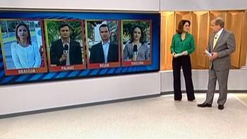 Bom Dia Brasil conversa com reportéres de vários estados (Foto: reprodução/TV Clube)