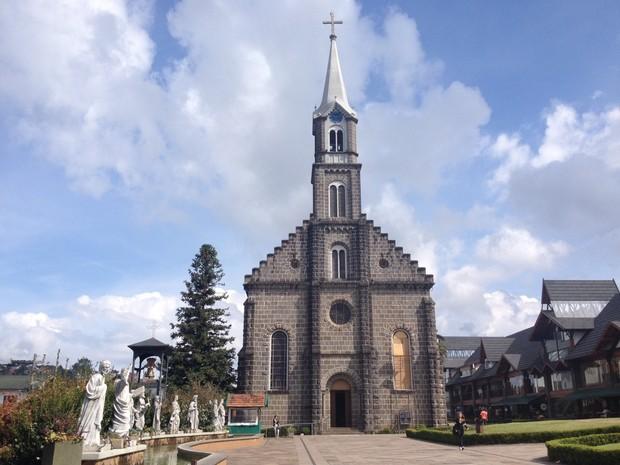 Igreja São Pedro é um dos pontos turísticos (Foto: Divulgação/Prefeitura de Gramado)