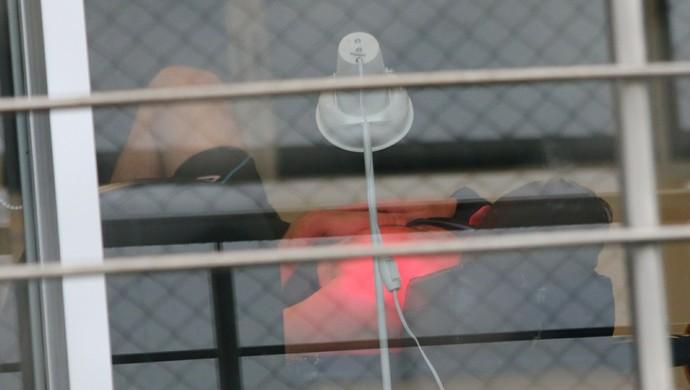 marcelo grohe grêmio tratamento academia (Foto: Eduardo Deconto/GloboEsporte.com)