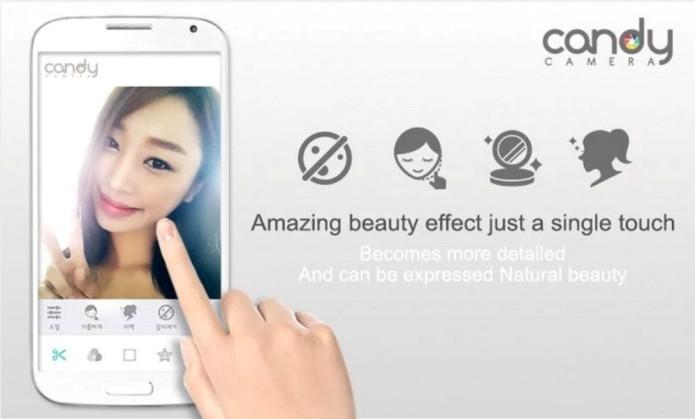 O aplicativo Candy Camera dispõe de mais de 30 filtros (Foto: Divulgação)