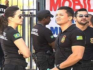 Categoria permaneceu de braços cruzados pelo terceiro dia (Foto: Reprodução/TV Anhanguera)