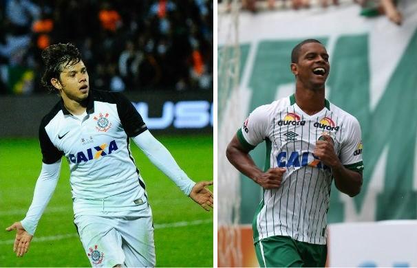 Corinthians enfrenta o Chapecoense pelo Campeonato Brasileiro (Foto: montagem/GE)