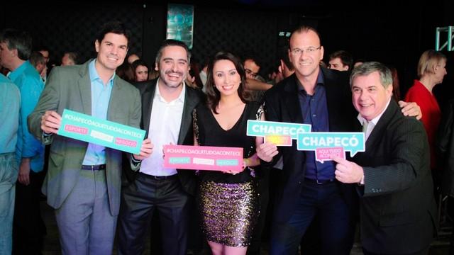 Fabian Londero, George Fortunato, Eveline Poncio, Cleiton Cesar e Mário Motta (Foto: Marcelo Pinto/Divulgação)