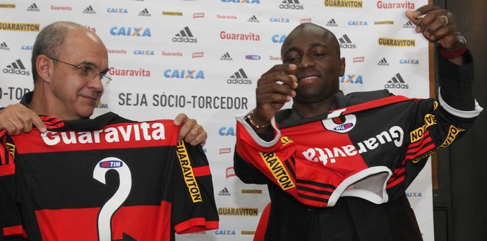 Armero apresentação Flamengo (Foto: Gilvan de Souza/Flamengo)