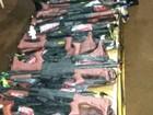 Polícia encontra simulacros de arma, drogas e telefones em ônibus no PR