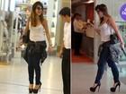 Look do dia: Sabrina Sato usa saltão para embarcar em aeroporto
