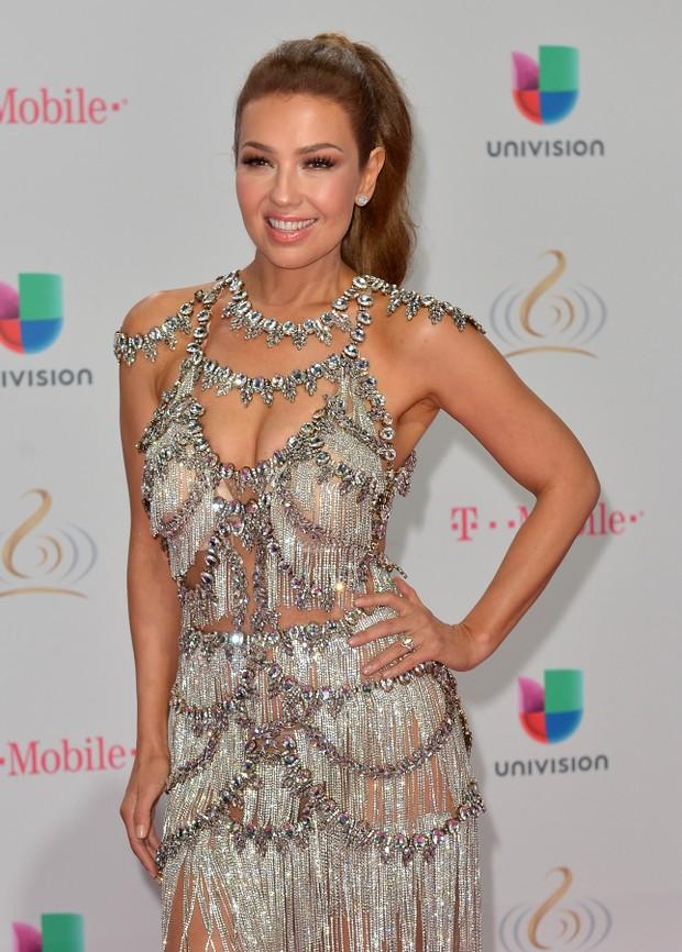 Thalia em prêmio de música em Miami, nos Estados Unidos (Foto: Johnny Louis/ Getty Images)