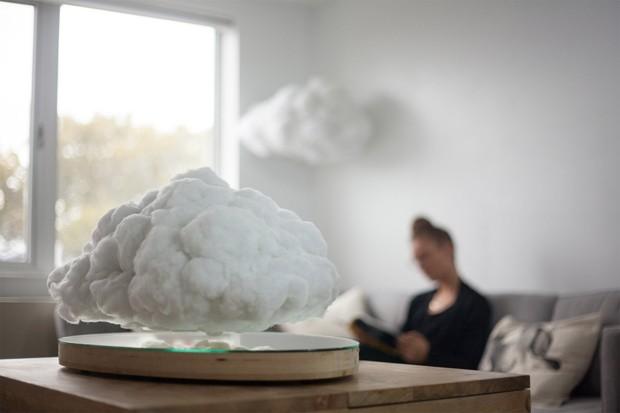 Designer cria speaker levitante em formato de nuvem (Foto: Reprodução)