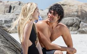 Fiu-fiu!!! Isabelle Drummond e Dudu Azevedo gravam cenas na praia