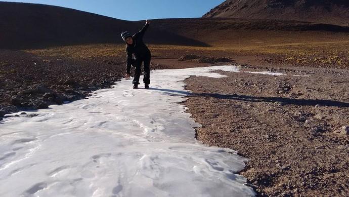 Gelo nas Cordilheiras dos Andes (Foto: Istepôs Aventureiros/Divulgação)