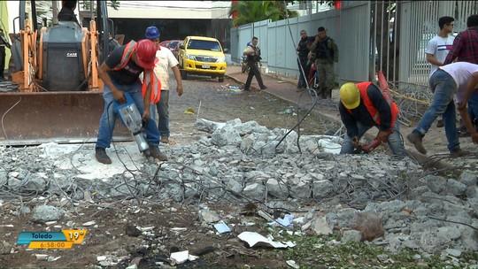 Após destruição causada por mega-assalto, funcionários da Prosegur voltam ao trabalho no Paraguai