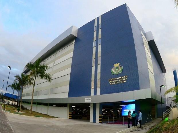 Edifício-garagem da Assembleia Legislativa do Estado Amazonas é um dos locais que serão utilizados para estacionar veículos durante os jogos (Foto: Mário Oliveira)