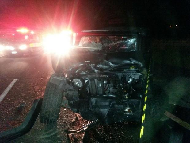 Colisão frontal ocorreu no km 370 da BR-101 (Foto: Marjorry Calumby/Divulgação)