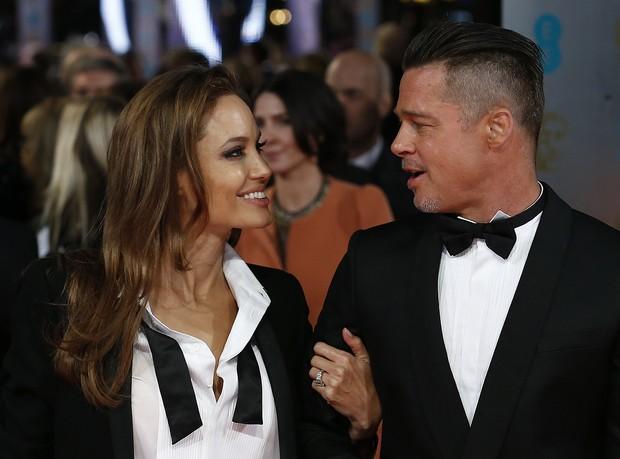 Angelina Jolie e Brad Pitt (Foto: AFP)