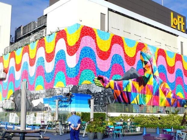 Obra de Eduardo Kobra em Tóquio (Foto: Divulgação)