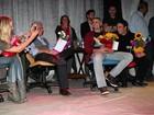 Reynaldo Gianecchi e Adriane Galisteu participam de evento cultural em SP