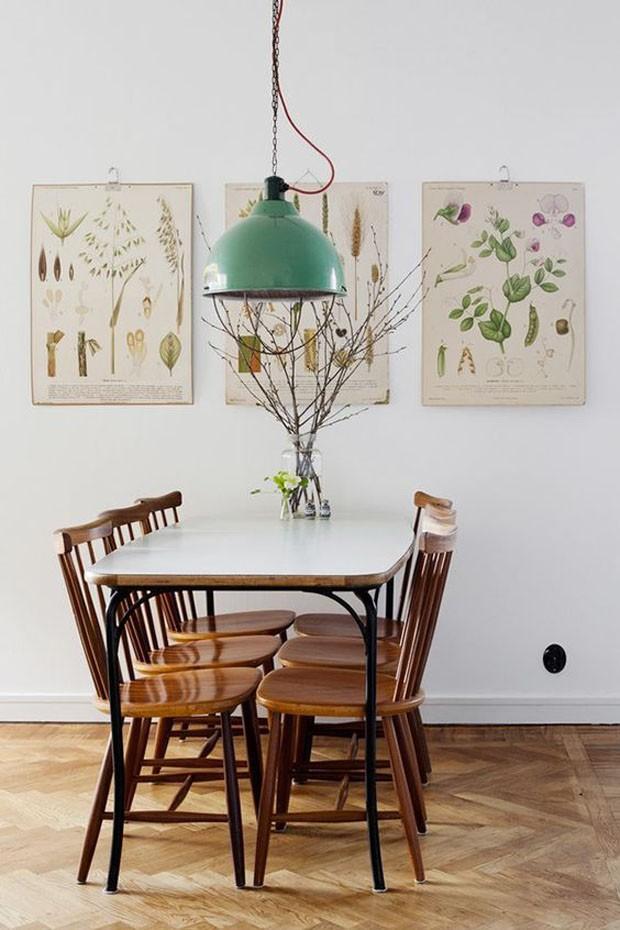 É tendência: plantas secas e prints botânicas no décor