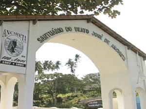 Santuário do beato José de Anchieta, no Sul do Espírito Santo. (Foto: Reprodução/TV Gazeta)
