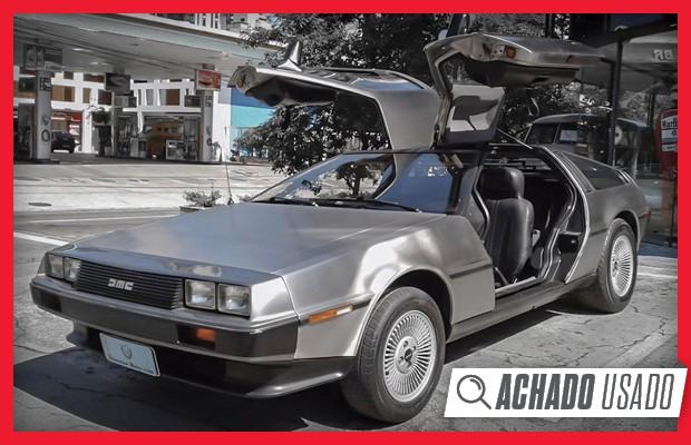 As portas asa de gaivota do DeLorean são estilosas, mas apenas o vidrinho vigia abre  (Foto:  Reprodução)
