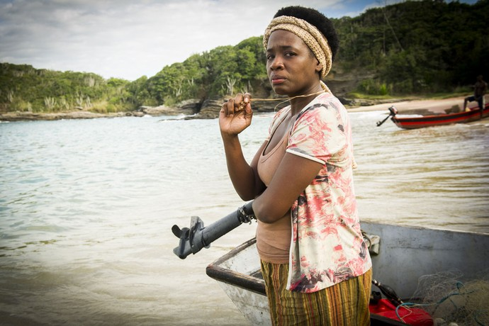 Chica é a líder da comunidade caiçara (Foto: João Miguel Júnior/Globo)