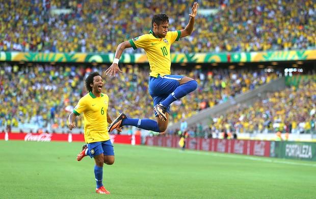Neymar comemoração gol Brasil México (Foto: Getty Images)