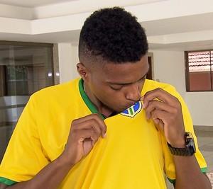Jemerson comemora convocação para a seleção brasileira (Foto: Reprodução / TV Globo MInas)