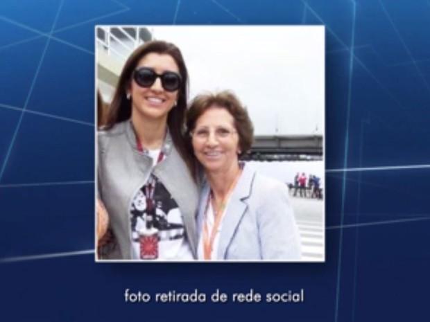 Aparecida Schunck, sogra de Bernie Ecclestone (Foto: TV Globo/Reprodução)