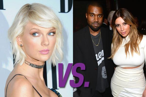 Taylor Swift vs Kanye West e Kim Kardashian (Foto: Divulgação)