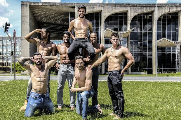 Candidatos a Mister DF (Foto: Anderson Morais)