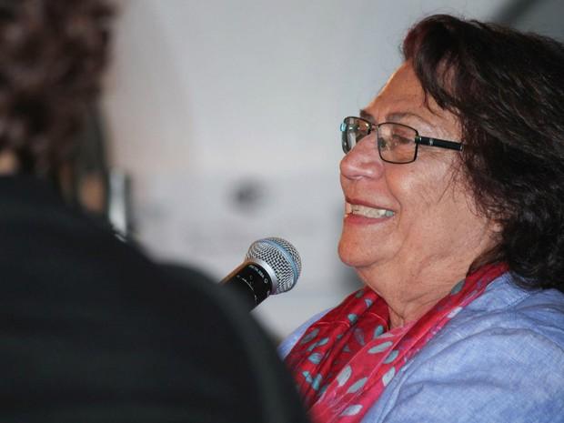 Autora Ana Maria Machado, a grande homenageada da Flica 2016, participou da ´[ultima emsa desta sexta (Foto: Egi Santana/Flica)