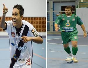 ADDP/Cabo Frio x Vasco/Tamoyo, Carioca de Futsal (Foto: Arte)