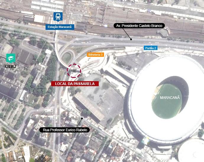 mapa passarela maracanã - 2 (Foto: arte esporte)