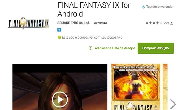 Final Fantasy IX no Android (Foto: Reprodução/Felipe Vinha)