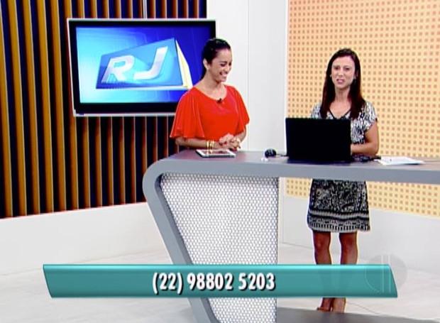 Fernanda Soares, divide o estúdio do RJ Inter TV 1º Edição com a apresentadora Ana Paula Mendes.  (Foto: Reprodução / InterTV)