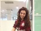 Bailarina do Faustão faz simpatia para seu time na Libertadores