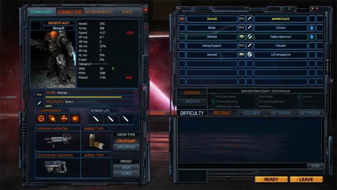 O jogo oferece várias opções para personalizar os armamentos e equipamentos de seu soldado e configurar as partidas (Foto: Reprodução/Daniel Ribeiro)