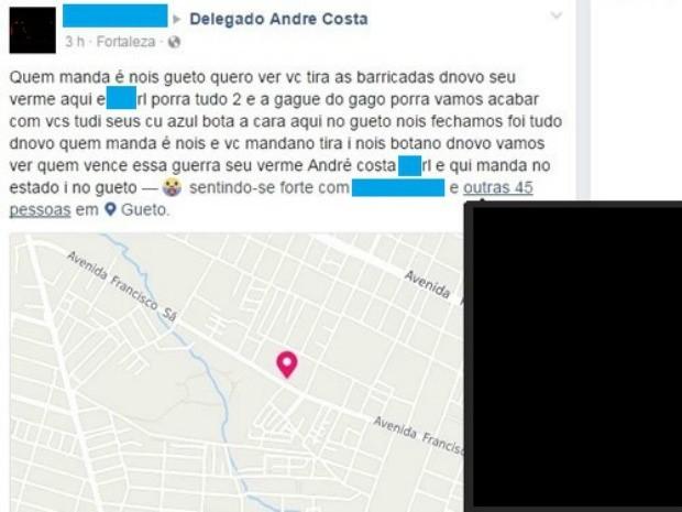 Secretário da Segurança do Ceará volta a ser provocado em redes sociais (Foto: Reprodução)