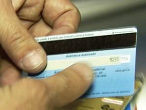 cartão de crédito (Foto: TV Globo)
