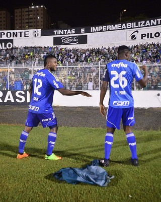 Miguel Borja Yerry Mina Palmeiras (Foto: Marcos Ribolli)
