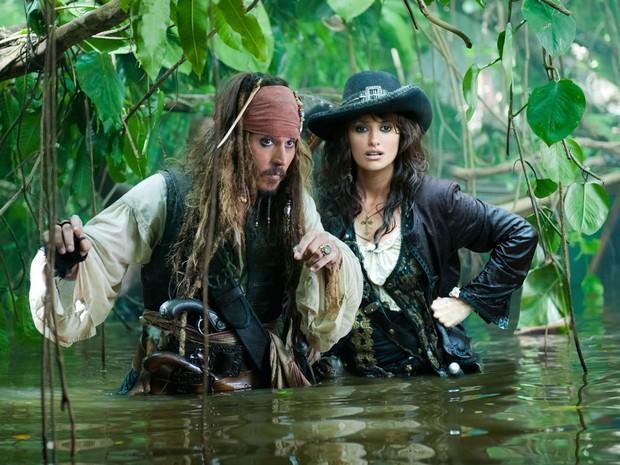 Johnny Depp em 'Piratas do Caribe - navegando em águas misteriosas' (2011) (Foto: Divulgação)