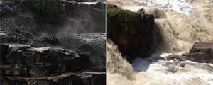VÍDEO: moradora registra 'água preta' no rio Tietê no interior de SP (G1)