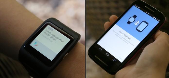 Ative o Bluetooth para parear o Smartwatch 3 com o seu Android (Foto: Carol Danelli/TechTudo)