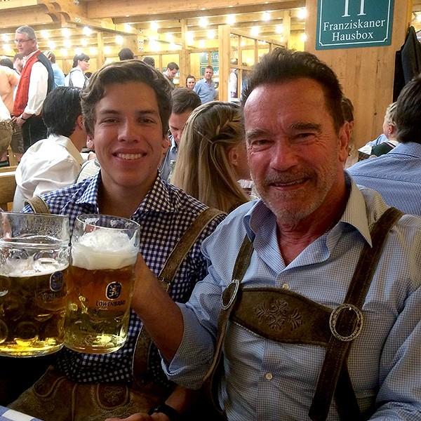 Arnold Schwarzenegger e Joseph Baena (Foto: Instagram/Reprodução)