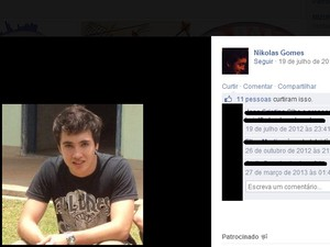 Nikolas Gomes Camilo morreu em acidente nesta quarta-feira (28) em Piracicaba (Foto: Reprodução/Facebook)