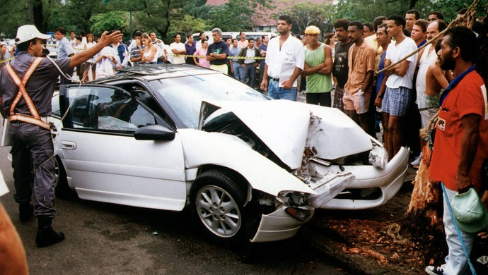 Dener acidente de carro fatal (Foto: Delfim Viera / Agência Estado)